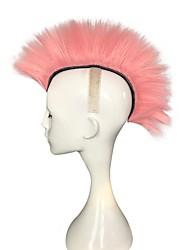 Недорогие -Парики из искусственных волос Естественные прямые Розовый Стрижка каскад Искусственные волосы Природные волосы Розовый Парик Жен. Длинные Без шапочки-основы