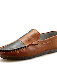 abordables -Homme Chaussures PU de microfibre synthétique Printemps / Automne Moccasin Mocassins et Chaussons+D6148 Noir / Marron / Kaki