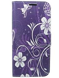 abordables -Coque Pour Huawei P10 Porte Carte Portefeuille Avec Support Clapet Fleur Dur pour Huawei