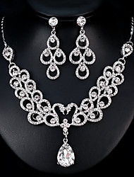cheap -Women's Jewelry Set Rhinestone Alloy Geometric Fashion European Wedding Daily 1 Necklace Earrings Costume Jewelry