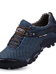 abordables -Homme Chaussures Tulle Printemps / Automne Confort Chaussures d'Athlétisme Randonnée Bleu de minuit / Brun claire / Bourgogne
