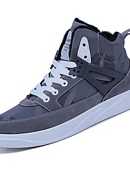cheap -Shoes PU Winter Fall Comfort Sneakers for Casual Black Gray