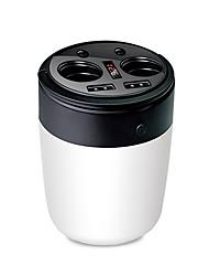 abordables -usmei b1 dos en un puerto de cigarrillos de coche dual usb 3.1a cup cargador de coche con 5400 mah batterry de polímero pantalla digital