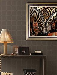 Недорогие -Пейзаж Животные Иллюстрации Предметы искусства,ПВХ материал с рамкой For Украшение дома Предметы искусства в рамках Гостиная Спальня
