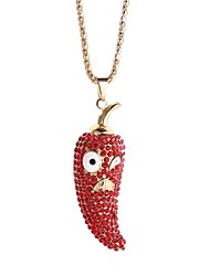 cheap -Women's Rhinestone Pendant Necklace Chain Necklace - Lovely Korean Pepper Necklace For Gift Daily