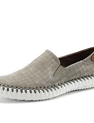 Недорогие -Муж. обувь Кожа Весна Лето Обувь для дайвинга Удобная обувь Мокасины и Свитер Аппликации для Повседневные Черный Серый Коричневый