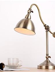 abordables -Métallique Décorative Lampe de Table Pour Chambre à coucher Métal 220V