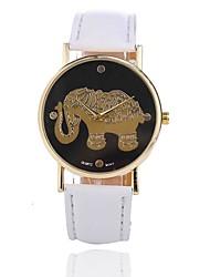 baratos -Mulheres Relógio de Pulso Chinês Criativo / Relógio Casual Lega Banda Casual Preta / Branco / Vermelho / Um ano / Jinli 377