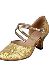 "cheap -Women's Modern Paillette Sandal Performance Chunky Heel Silver Gold 2"" - 2 3/4"" Customizable"