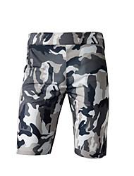 baratos -Homens Normal Esporte & lazer Cintura Média Micro-Elástica Chinos Calças, Poliéster Verão camuflagem