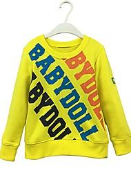 cheap -Boys' Solid Letter Hoodie & Sweatshirt, Cotton Spring Fall Long Sleeves Simple Cute Cartoon Yellow