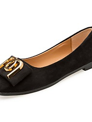 preiswerte -Damen Schuhe Kaschmir Frühling Komfort Flache Schuhe Flacher Absatz Runde Zehe Schleife für Schwarz Braun