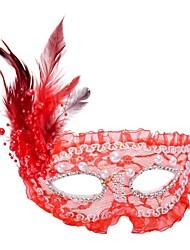 preiswerte -Maskenmaske Klassisch Rose / Rot / Weiß Kunststoff Cosplay Accessoires Halloween / Maskerade Halloween Kostüme