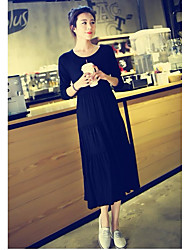 cheap -Women's Butterfly Sleeve Bodycon Dress - Solid Colored