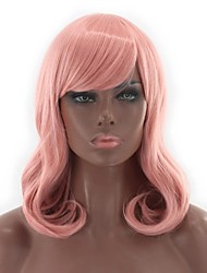 cheap -Synthetic Wig Wavy Natural Wave Pink Women's Capless Lolita Wig Natural Wigs Cosplay Wig Synthetic Hair