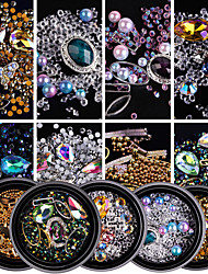 cheap -Rhinestones Nail Jewelry Nail Glitter Fashionable Jewelry Luxury As per picture Pattern Nail Art Design