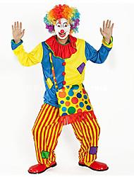 Недорогие -Клоун Цирк Косплэй Kостюмы Костюм для вечеринки Взрослые Карнавал Фестиваль / праздник Костюмы на Хэллоуин Цвет радуги Контрастных цветов