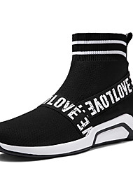 cheap -Men's Novelty Shoes Lycra / Tulle Spring / Summer Boots Booties / Ankle Boots Black / Red
