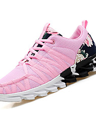 cheap -Women's Shoes Tulle / PU(Polyurethane) Spring / Fall Comfort Athletic Shoes Running Shoes Low Heel Black / Pink