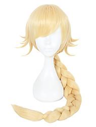 Недорогие -Парики из искусственных волос Прямой Искусственные волосы Блондинка Парик Жен. Парики для косплей Без шапочки-основы