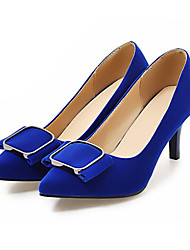 cheap -Women's Shoes Nubuck leather Spring Fall Comfort Novelty Heels Stiletto Heel Pointed Toe Bowknot for Wedding Party & Evening Blue Red