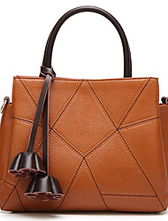 cheap -Women Bags Polyester leatherette Tote Zipper for Casual All Season Brown Purple Red Black