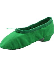 Недорогие -Жен. Балет Полотно Кроссовки На толстом каблуке Зеленый Розовый Персонализируемая