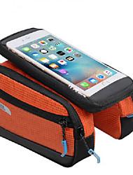 economico -ROSWHEEL Borsa da bici Bag Cell Phone Marsupio triangolare da telaio bici Striscia riflettente Anti-scivolo Anti-pioggia Resistente agli