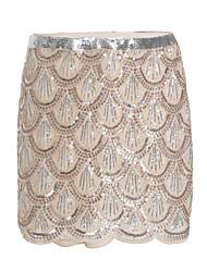 cheap -Women's Chic & Modern Bodycon Skirts - Multi Color, Print