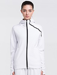 cheap -Women's Running Jacket - White, Black Sports Tracksuit Yoga, Fitness, Gym Long Sleeve Activewear Quick Dry