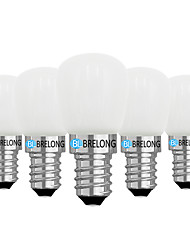 cheap -BRELONG® 5pcs 2W 120 lm E14 E12 LED Globe Bulbs 1 leds COB Dimmable Warm White White AC 220V