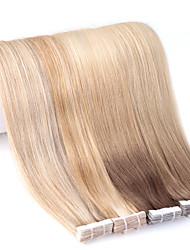 billige -Neitsi Tape-in Menneskehår Extensions Lige Hårforlængelse af menneskehår Menneskehår Dame - Beige Blond / / Afbleget Blond Ash Brown / Strawberry Blonde / Platinum Blonde Golden Brown / Beige Blonde