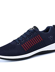 cheap -Men's Light Soles Tulle / PU(Polyurethane) Spring / Fall Comfort Athletic Shoes Striped Black / Gray / Blue / Running Shoes / Color Block