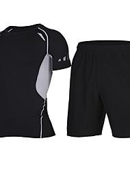 abordables -Homme Tee-shirt et Shorts de course Manches Courtes Séchage rapide Cuissard  / Short Survêtement Hauts/Top pour Activités Extérieures