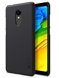 Недорогие -Кейс для Назначение Xiaomi Redmi 5 Redmi 5 Plus Матовое Задняя крышка Сплошной цвет Твердый PC для Redmi Note 5A Redmi 5A Xiaomi Redmi 5