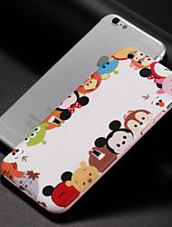 baratos -Capinha Para Apple iPhone 8 iPhone 8 Plus IMD Estampada Capa Traseira Desenho Animado Macia TPU para iPhone 8 Plus iPhone 8 iPhone 7 Plus