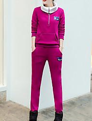 economico -Per donna Felpa con cappuccio Tinta unita Pantalone