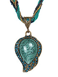 cheap -Women's Opal Pendant Necklace - Opal Drop Ethnic Red, Light Blue Necklace Jewelry One-piece Suit For Daily