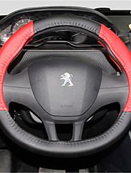 Недорогие -Чехлы на руль 38 см Черный / Красный For Peugeot 308 / 2008 / 308S Все года