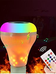 cheap -1set LED Flame Music Light E27 White&RGB&Warm White Colorful Lamp Smart Wireless Bluetooth AC100-240V