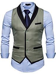 abordables -gilet Homme - Couleur Pleine Coton