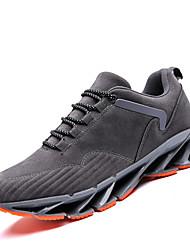 Недорогие -обувь Свиная кожа Весна Осень Удобная обувь Спортивная обувь для Атлетический Повседневные Черный Серый