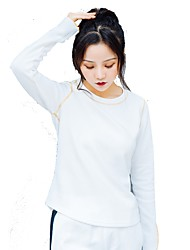cheap -Women's Crew Neck Running Shirt - White Sports Sweatshirt / Top Yoga, Fitness, Gym Long Sleeve Activewear Breathability Inelastic
