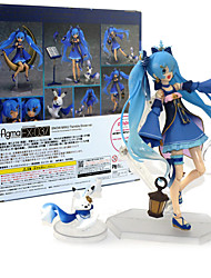 cheap -Anime Action Figures Inspired by Vocaloid Snow Miku PVC 14 CM Model Toys Doll Toy