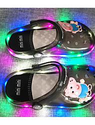 preiswerte -Mädchen Schuhe PVC Leder Frühling Herbst Komfort Sandalen für Normal Schwarz Orange Blau Rosa