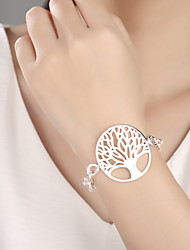 cheap -Women's Charm Bracelet - Silver Plated Tree of Life Fashion Bracelet Silver For Daily