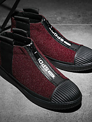abordables -Homme Chaussures Laine synthétique Cuir Nubuck Hiver Printemps Confort Basket pour Décontracté De plein air Noir Gris Rouge