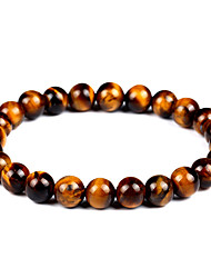 cheap -Unisex Onyx / Tiger Eye Stone Strand Bracelet / Bracelet - Vintage, Bohemian, Fashion Bracelet Brown For Gift / Evening Party