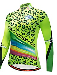 cheap -CYCOBYCO Cycling Jersey Women's Long Sleeves Bike Sweatshirt Jersey Top Bike Wear Trainer Fast Dry Quick Dry Reflective Strips