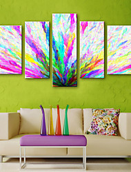cheap -Canvas Print Rustic Modern, Five Panels Canvas Vertical Print Wall Decor Home Decoration